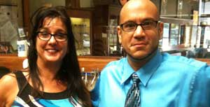 Branford manager Catherine Capone and Optometrist, Dr. Michael DeMeo