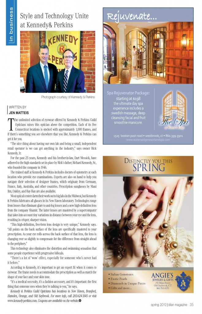 Kennedy & Perkins feature in Elan Magazine