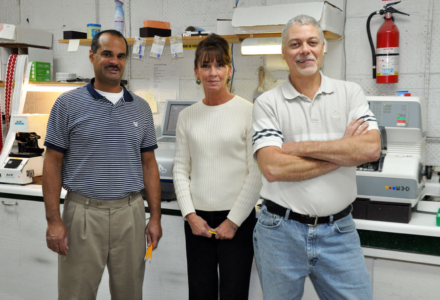 Kennedy & Perkins eyeglasses optical lab technicians in New Haven