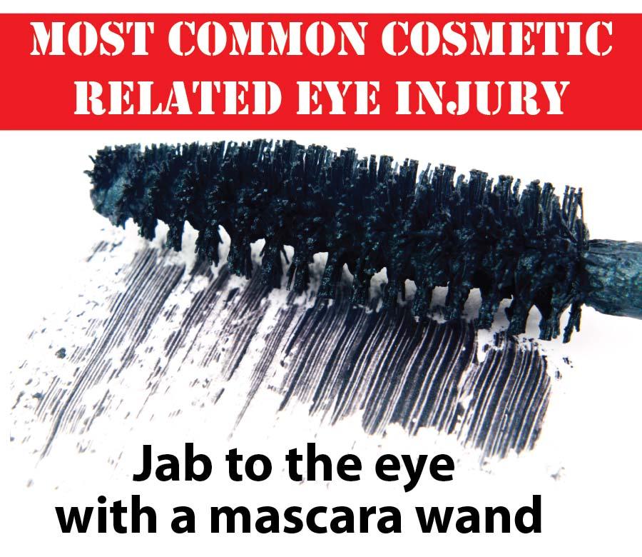 Mascara wand and common eye injuries
