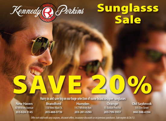Sunglasses sales promotional poster
