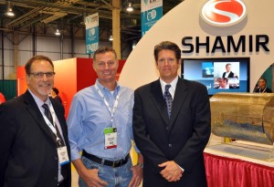 Rick Kennedy and Dart Mesick at vision expo west trade show